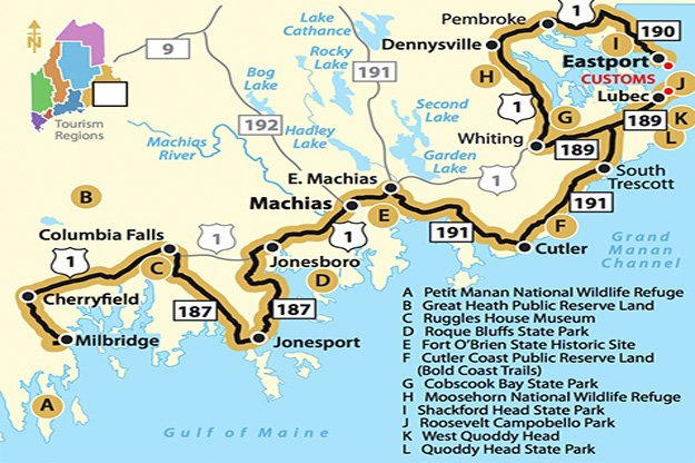 Bold Coast Scenic Byway - EXPERIENCE MARITIME MAINE on bar harbor map, new orleans map, maine storm map, maine mall portland maine map, state of maine map, camden maine map, maine woods map, maine harbor map, maine desert map, maine western map, maine map with latitude and longitude, acadia maine map, maine bay map, midcoast maine map, maine north map, gorham maine street map, maine school districts map, maine oregon map, blue hill maine map, maine east map,