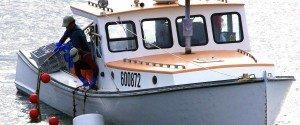 Lobster boat off Monhegan Island, ME