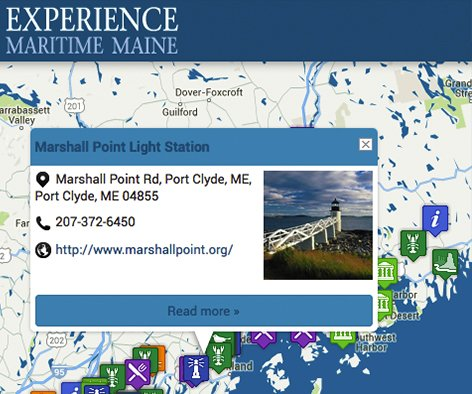 Maine Maritime Map