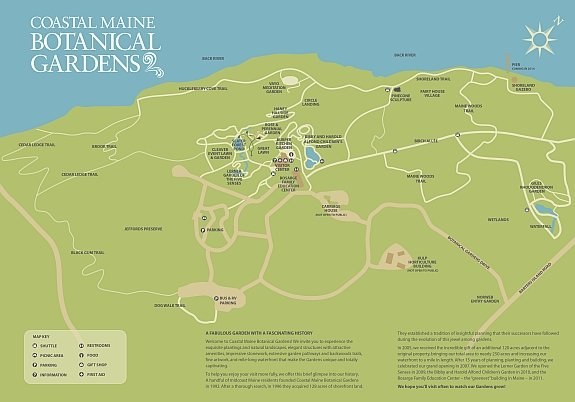 Coastal Maine Botanical Gardens Map