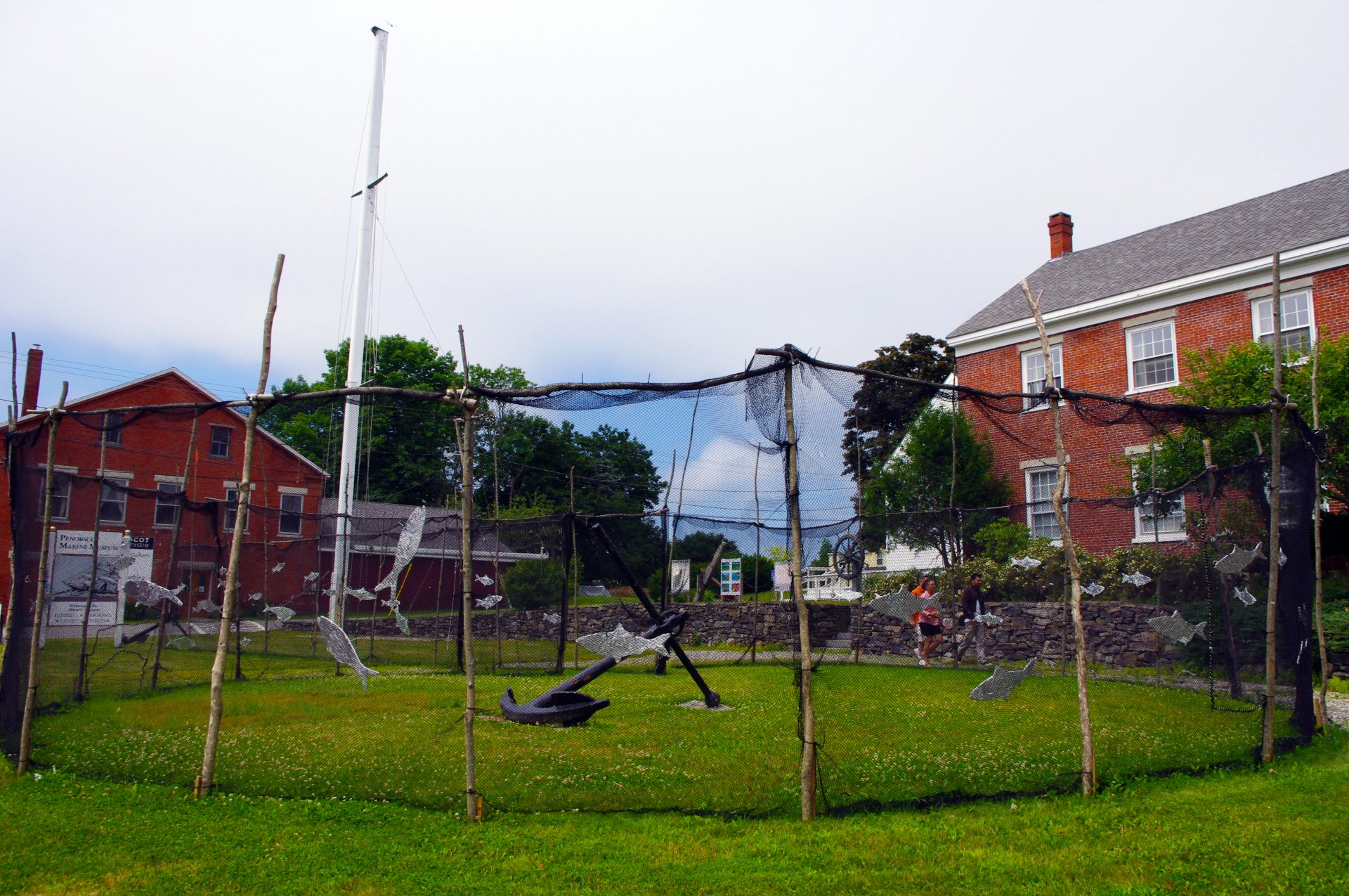 Fishing net outside the Penobscot Marine Museum in Searsport Maine