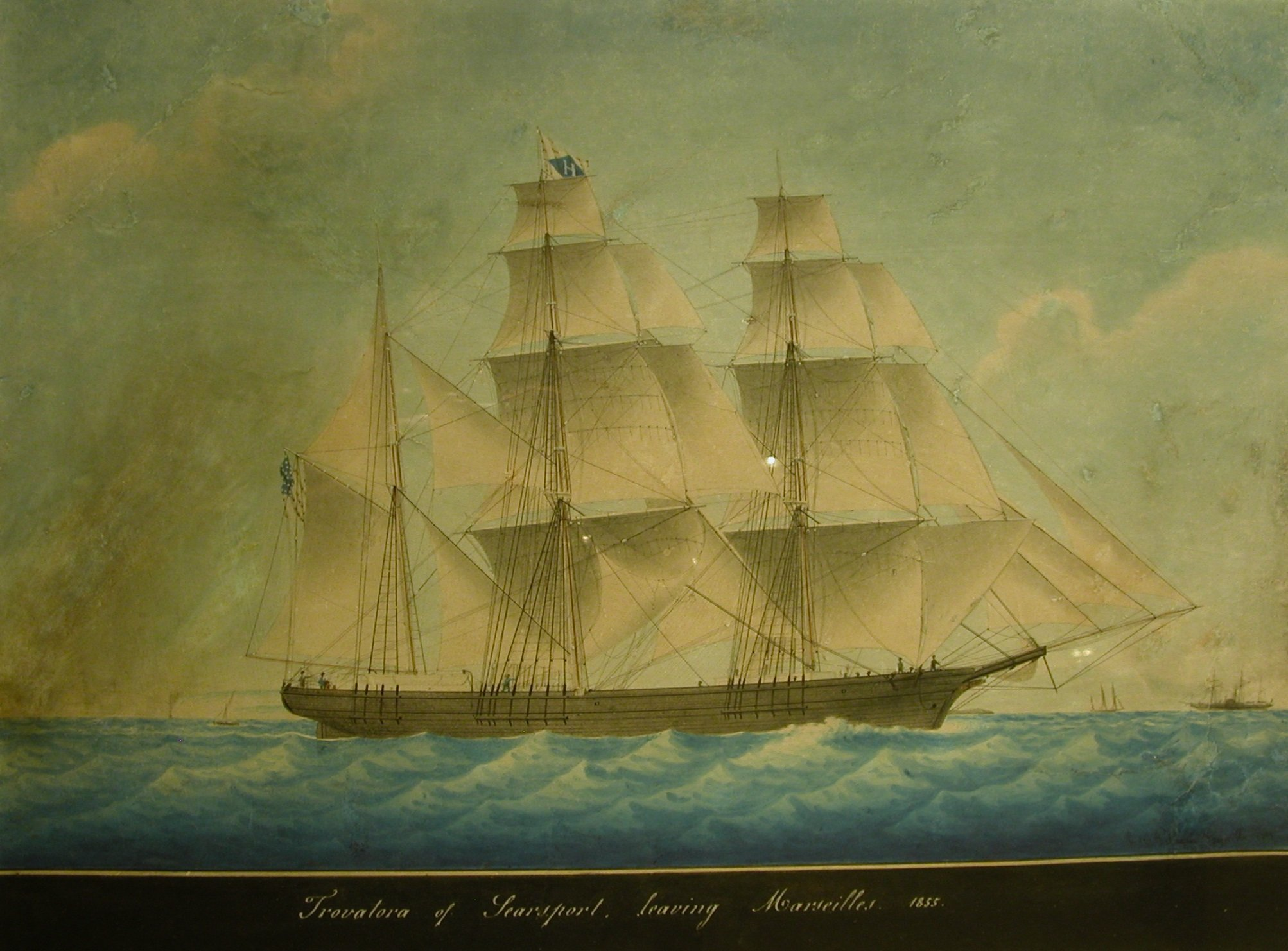 Trovatora of Searsport Maine leaving Marseille, 1855